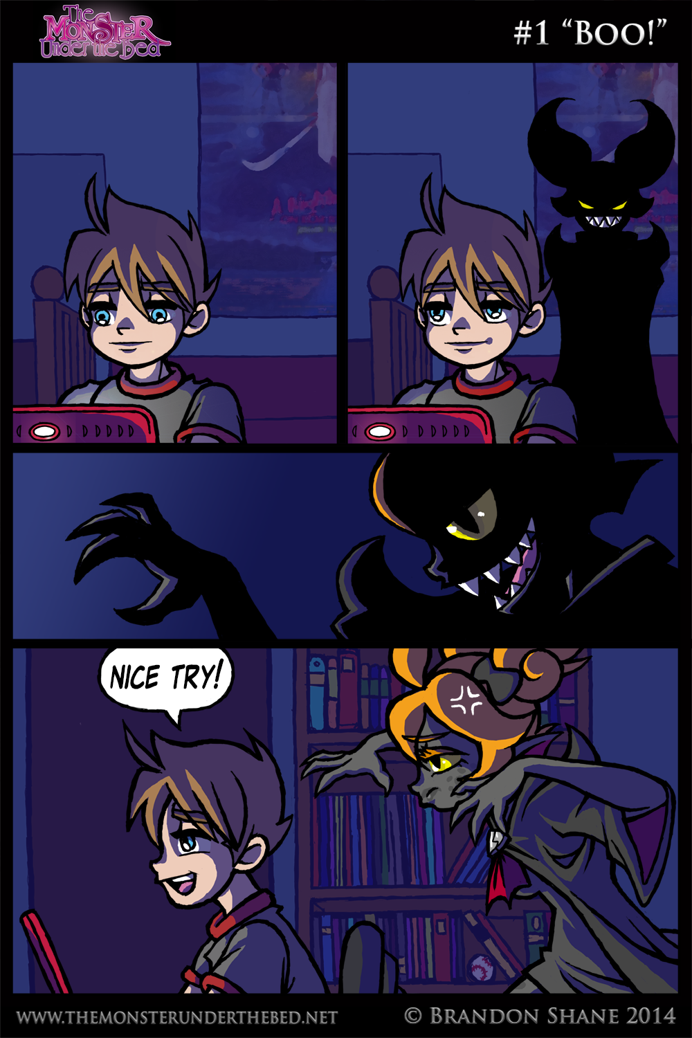 "7 Muses Comics 1 ""boo!"" – the monster under the bed"